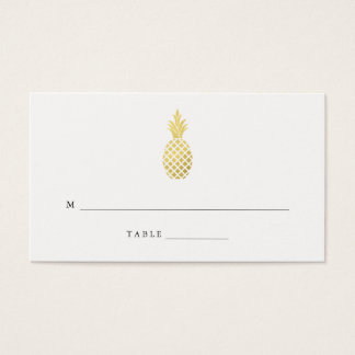 Elegant Gold Pineapple Wedding Escort Cards