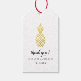 Elegant Gold Pineapple Wedding Gift Tags