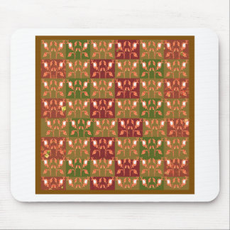 Elegant Gold Red Jewel Pattern GOODluck symbol fun Mouse Pad