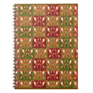 Elegant Gold Red Jewel Pattern GOODluck symbol fun Notebooks