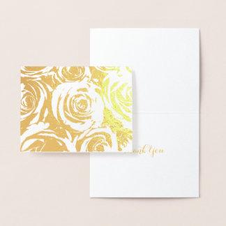 Elegant Gold Roses Foil Card