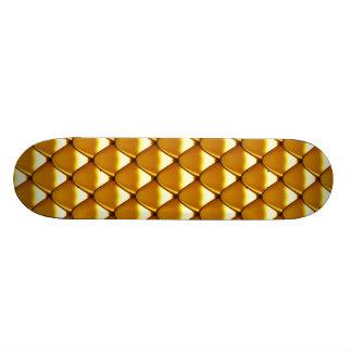 Elegant Gold Scale Pattern 20.6 Cm Skateboard Deck