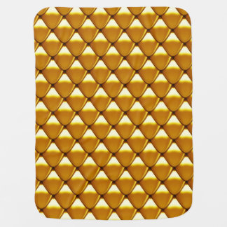 Elegant Gold Scale Pattern Baby Blanket