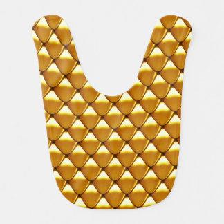 Elegant Gold Scale Pattern Bib