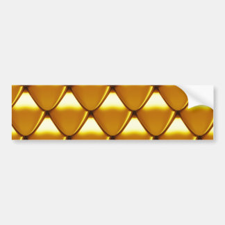 Elegant Gold Scale Pattern Bumper Sticker