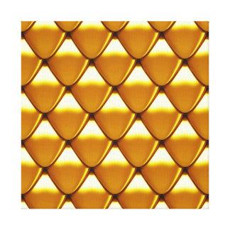 Elegant Gold Scale Pattern Canvas Print