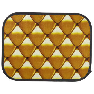 Elegant Gold Scale Pattern Car Mat