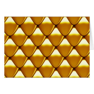 Elegant Gold Scale Pattern Card