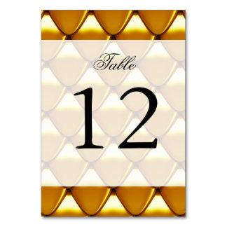 Elegant Gold Scale Pattern Card