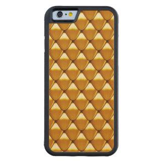 Elegant Gold Scale Pattern Carved Maple iPhone 6 Bumper Case