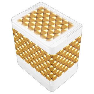 Elegant Gold Scale Pattern Cooler