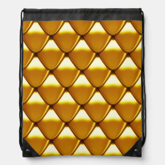 Elegant Gold Scale Pattern Drawstring Bag