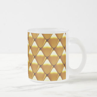 Elegant Gold Scale Pattern Frosted Glass Coffee Mug