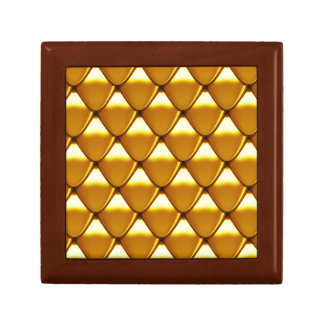 Elegant Gold Scale Pattern Gift Box