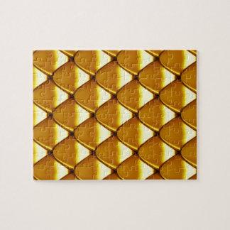 Elegant Gold Scale Pattern Jigsaw Puzzle