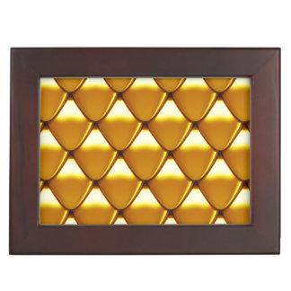 Elegant Gold Scale Pattern Keepsake Box