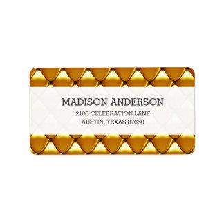 Elegant Gold Scale Pattern Label