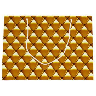 Elegant Gold Scale Pattern Large Gift Bag