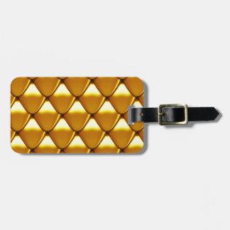 Elegant Gold Scale Pattern Luggage Tag