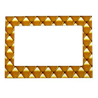 Elegant Gold Scale Pattern Magnetic Frame