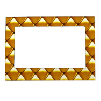 Elegant Gold Scale Pattern Magnetic Picture Frame