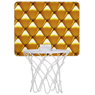 Elegant Gold Scale Pattern Mini Basketball Hoop