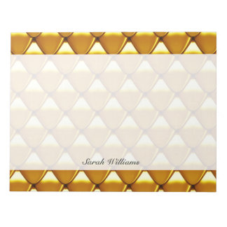 Elegant Gold Scale Pattern Notepad