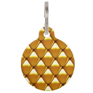 Elegant Gold Scale Pattern Pet ID Tag
