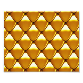 Elegant Gold Scale Pattern Photo Print