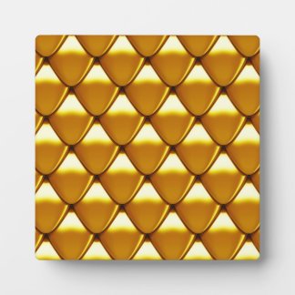Elegant Gold Scale Pattern Plaque