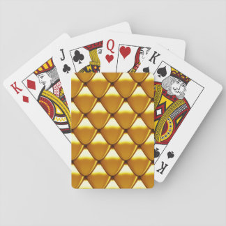 Elegant Gold Scale Pattern Playing Cards