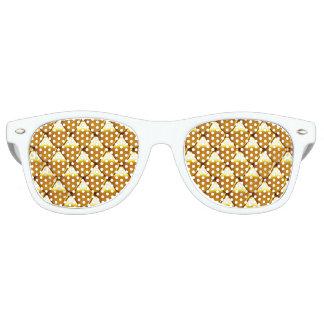 Elegant Gold Scale Pattern Retro Sunglasses