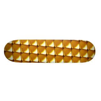 Elegant Gold Scale Pattern Skate Board