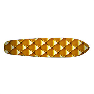 Elegant Gold Scale Pattern Skate Board Deck