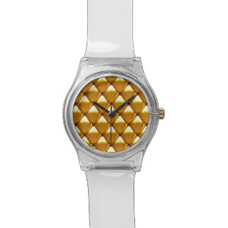 Elegant Gold Scale Pattern Watches