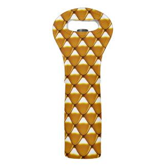 Elegant Gold Scale Pattern Wine Bag