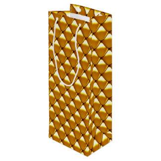 Elegant Gold Scale Pattern Wine Gift Bag