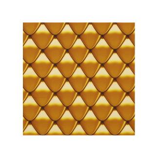 Elegant Gold Scale Pattern Wood Print