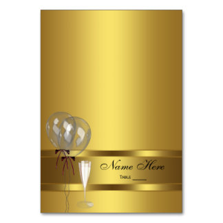 Elegant Gold Seating Card Table Cards