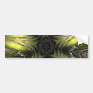 Elegant Gold Silver Kaleidoscope Christmas Star Bumper Sticker