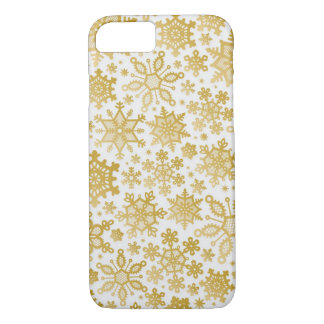 Elegant Gold Snow Flakes iPhone 7 Case