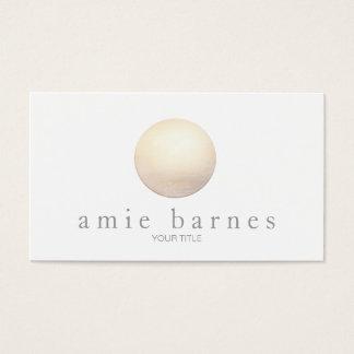 Elegant Gold Sphere Minimalist White Business Card