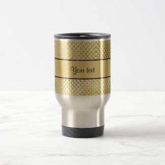 Elegant Gold Stainless Steel Travel Mug