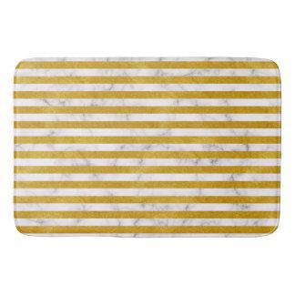 Elegant Gold Stripe -Custom Your Color- Bath Mat