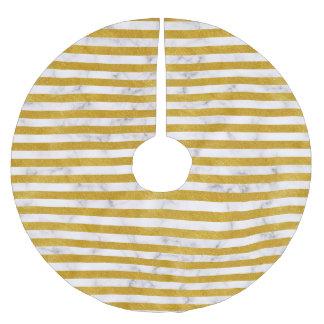 Elegant Gold Stripe -Custom Your Color- Brushed Polyester Tree Skirt