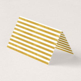 Elegant Gold Stripe -Custom Your Color- Business Card