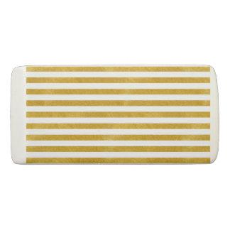 Elegant Gold Stripe -Custom Your Color- Eraser
