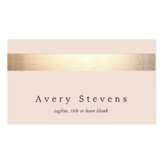 Elegant Gold Striped (no shine) Modern  Light Pink Pack Of Standard Business Cards