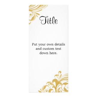 "Elegant Gold Swirl 4"" X 9"" Wedding Details Card"