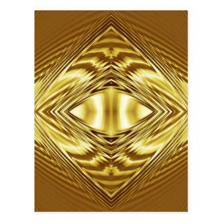 Elegant gold symmetry postcard